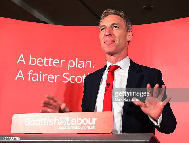 Jim Murphy the leader of the Scottish Labour Party asks voters to choose between a fair economy or a second referendum during a speech at the Light...