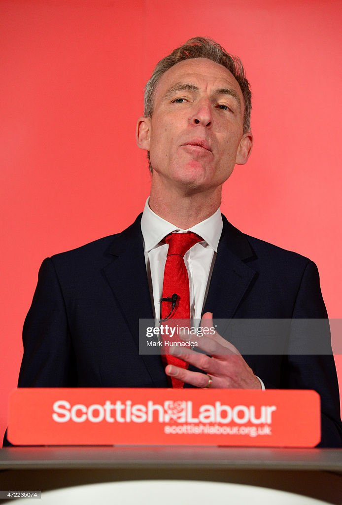 Jim Murphy, the leader of the Scottish Labour Party, asks voters to choose between a fair economy or a second referendum during a speech at the Light House on May 05, 2015 in Glasgow, Scotland. Britain goes to the polls in a General Election on May 7.