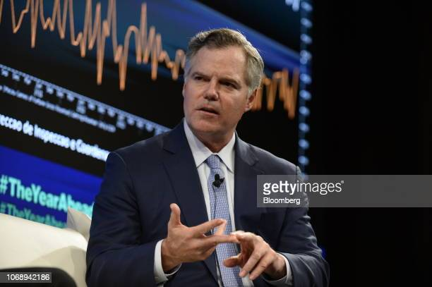 Jim Murren chairman and chief executive officer of MGM Resorts International speaks during the Bloomberg Year Ahead summit in Tokyo Japan on Thursday...