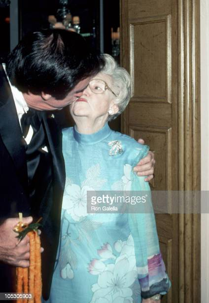 Jim Nabors and mother Mavis during Mavis Nabor's Birthday Party at Beverly Hills Hotel in Beverly Hills California United States