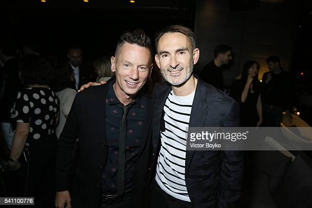 Jim Nelson and Neil Barrett attend GQ celebration of Milan Men's Fashion Week 2016 at Radio Rooftop Bar at ME Milan Duca on June 18 2016 in Milan...