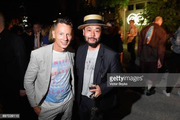 Jim Nelson and Poggy attends GQ Celebrates Milan Men's Fashion Week during Milan Men's Fashion Week Spring/Summer 2018 on June 17 2017 in Milan Italy