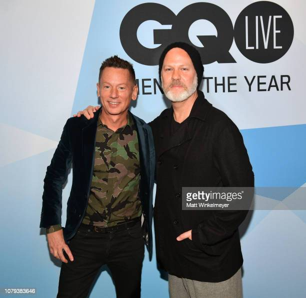 Jim Nelson and Ryan Murphy attend GQ Live American Genius Story The Mind Of Ryan Murphyat NeueHouse Los Angeles on December 08 2018 in Hollywood...