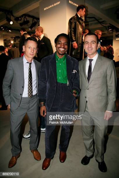 Jim Nelson Andre 3000 Benjamin and Steven Kolb attend GQ/CFDA Honor Second Annual Best New Menswear Designer in America Finalists at Rockefeller...