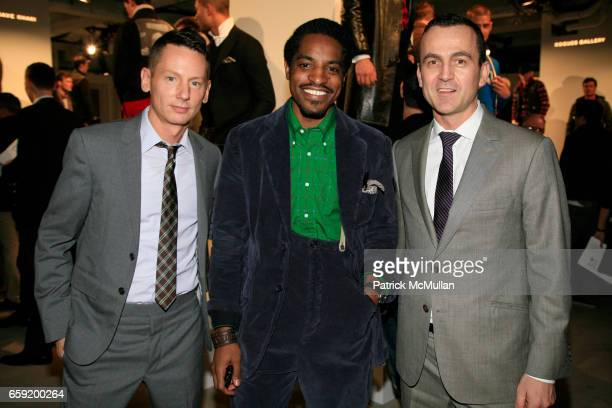 Jim Nelson Andre '3000' Benjamin and Steven Kolb attend GQ/CFDA Honor Second Annual 'Best New Menswear Designer in America' Finalists at Rockefeller...