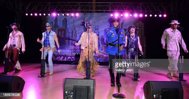 Jim Newman Bill Whitefield Ray Simpson Felipe Rose Eric Anzalone and Alex Briley of The Village People perfoms at the 13th Annual Footy's Bubbles...