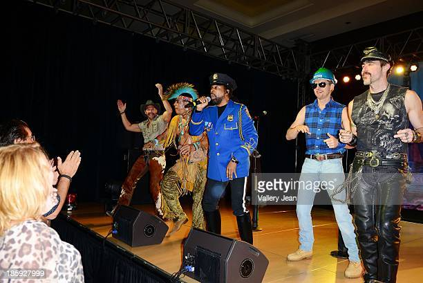 Jim Newman Felipe Rose Ray Simpson Bill Whitefield and Eric Anzalone of The Village People perfoms at the 13th Annual Footy's Bubbles Bones Gala at...