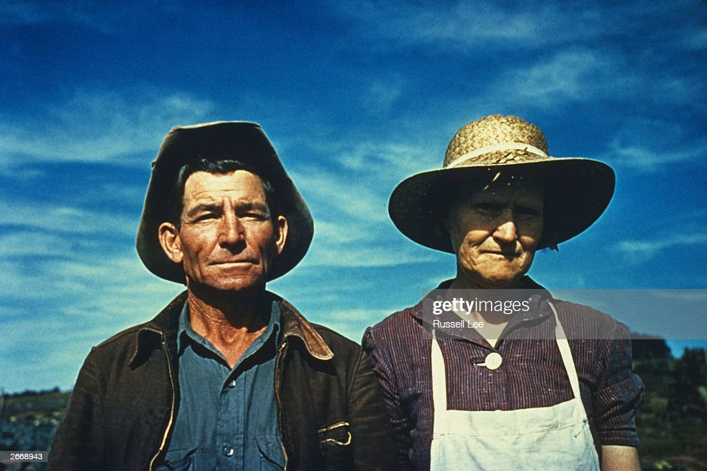 Jim Norris and his wife in Pie Town, New Mexico, a community formed by migrant farmers from the dust bowl in texas and Oklahoma.