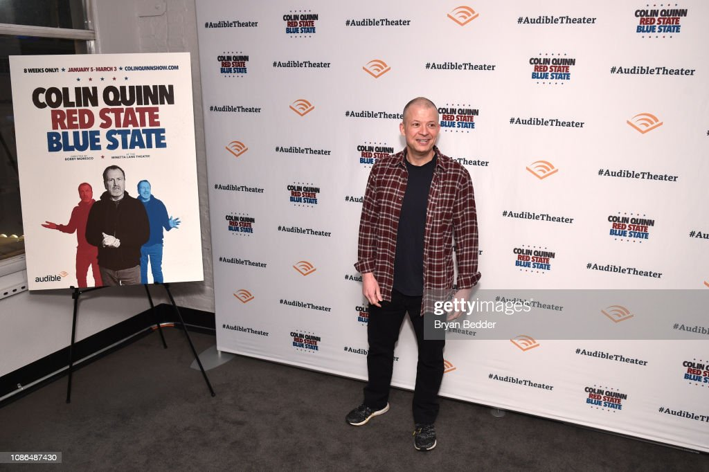 """Opening Night For Colin Quinn's """"Red State Blue State"""" At Audible's Minetta Lane Theatre In NYC : News Photo"""