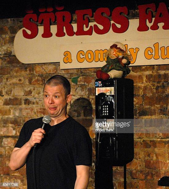 Jim Norton headlines at the Stress Factory Comedy Club on November 8, 2008 in New Brunswick, New Jersey.