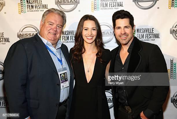 Jim O'Heir Kristen Gutoskie and JT Hodges attend the 2016 Nashville Film Festival premiere at Regal Green Hills on April 14 2016 in Nashville...