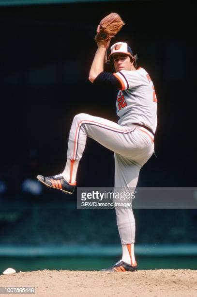 Jim Palmer Baltimore Orioles pitching during a game from his 1977 season with the Baltimore Orioles Jim Palmer played for 19 years all with the...