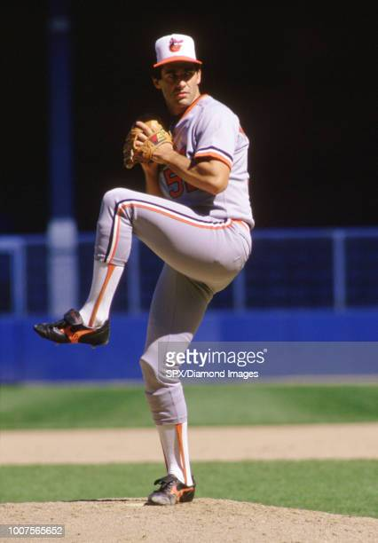 Jim Palmer Baltimore Orioles pitching during a game from his 1985 season with the Baltimore Orioles Jim Palmer played for 19 years all with the...