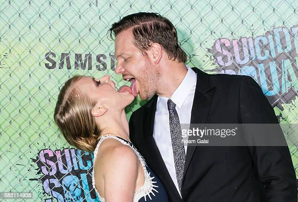 Jim Parrack and Leven Rambin attend the world premiere of 'Suicide Squad' at The Beacon Theatre on August 1 2016 in New York City