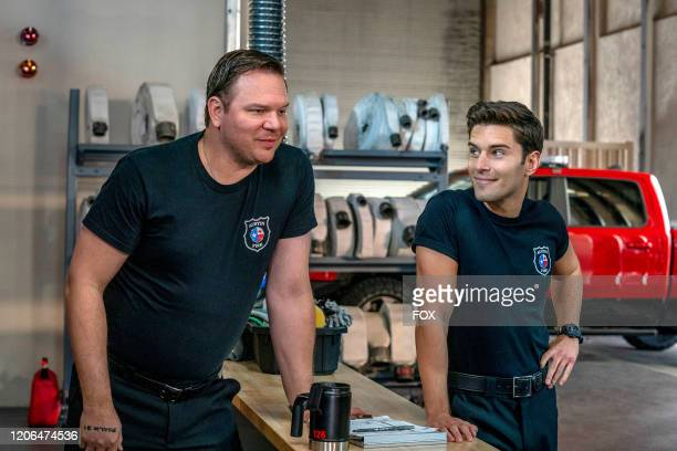 Jim Parrack and Ronen Rubinstein in the Monster Inside episode of 911 LONE STAR airing Monday March 2 on FOX