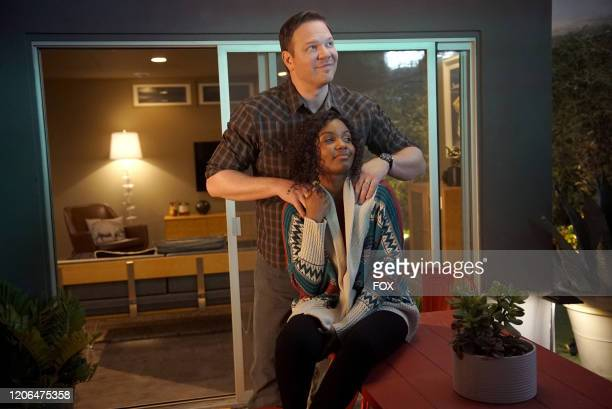 Jim Parrack and Sierra McClain in the Awakening/Austin We Have A Problem twohour season finale of 911 LONE STAR airing Monday March 9 on FOX