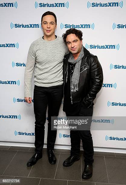 Jim Parsons and Johnny Galecki visits at SiriusXM Studios on January 20 2017 in New York City