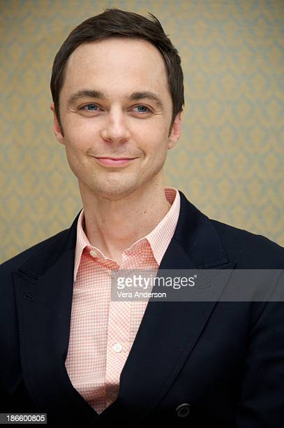 "Jim Parsons at ""The Big Bang Theory"" Press Conference at the Four Seasons Hotel on October 30, 2013 in Beverly Hills."