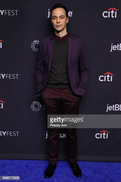 Jim Parsons attends PaleyFest Los Angeles 2018 The Big Bang Theory and Young Sheldon at Dolby Theatre on March 21 2018 in Hollywood California