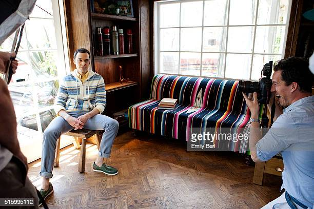 Jim Parsons is photographed behind the scenes of the The Hollywood Reporter Comedy Actor Emmy Roundtable at the Bungalow at the Fairmont Hotel for...