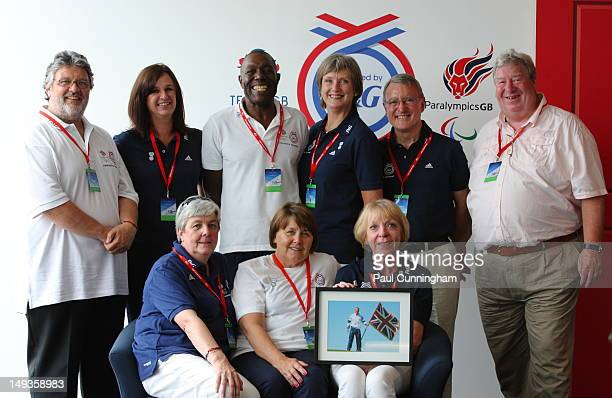Jim Payne father of KeriAnne Payne of Team GB Alison Powell mother of Jessica Ennis of Team GB Vinnie Ennis father of Jessica Ennis of Team GB Pat...