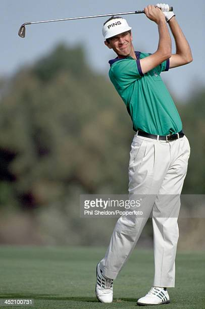 Jim Payne of Great Britain in action during the Dubai Desert Classic Golf Tournament held at the Emirates Golf Club Dubai circa February 1992