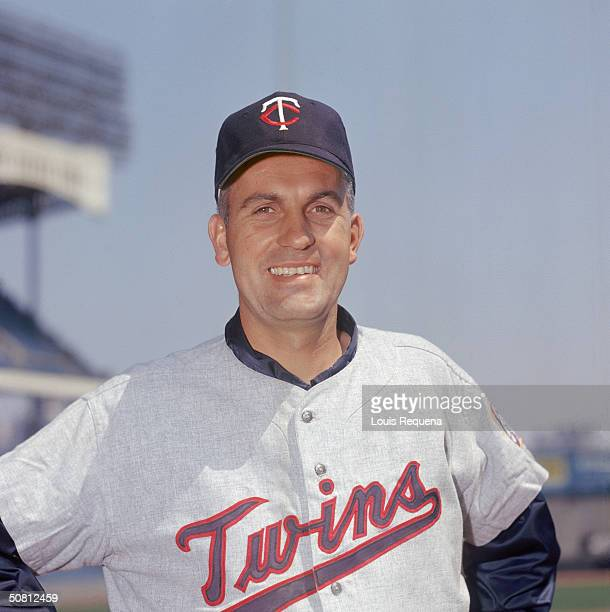Jim Perry of the Minnesota Twins poses for a portrait at Yankee Stadium in the Bronx New York Perry played for the Twins from 19631972
