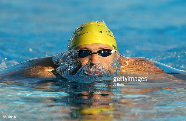 Jim Piper of Australia competes in the semifinal heats of the 200 meter Breaststroke during the XI FINA World Championships at the Parc JeanDrapeau...