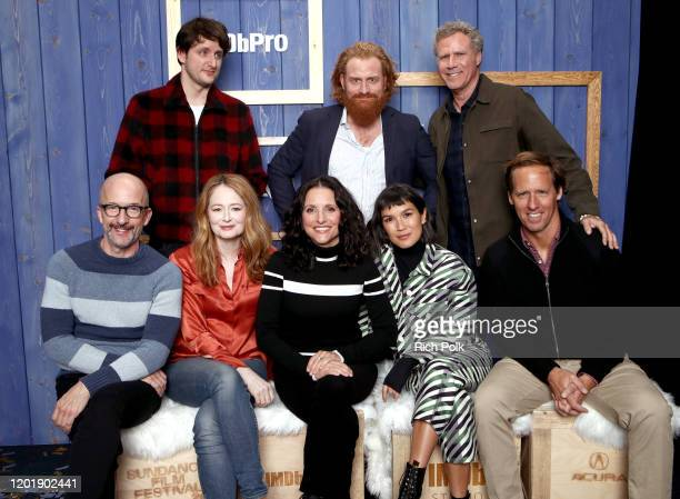 Jim Rash Zach Woods Miranda Otto Julia LouisDreyfus Kristofer Hivju Zoe Chao Will Ferrell and Nat Faxon of 'Downhill' attend the IMDb Studio at Acura...