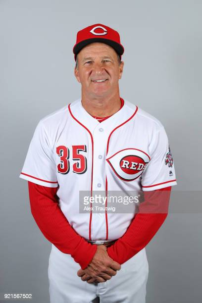 Jim Riggleman of the Cincinnati Reds poses during Photo Day on Tuesday February 20 2018 at Goodyear Ballpark in Goodyear Arizona