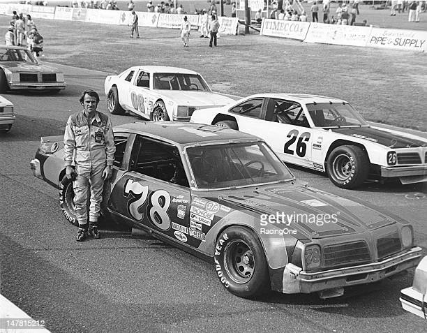 Jim Robinson of North Hollywood CA with the Pontiac Ventura he campaigned during the NASCAR Winston West season Robinson drove on the Winston West...