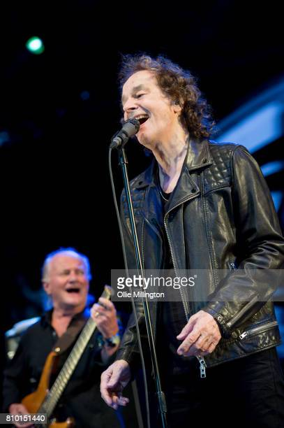 Jim Rodford and Colin Blunstone of The Zombies perform onstage during Day 1 of the 50th Festival D'ete De Quebec on the LottoQuebec stage on July 6...