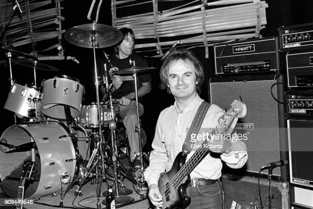 Jim Rodford and Mick Avory performing with The Kinks at Nassau Coliseum in Uniondale Long Island New York on October 26 1980