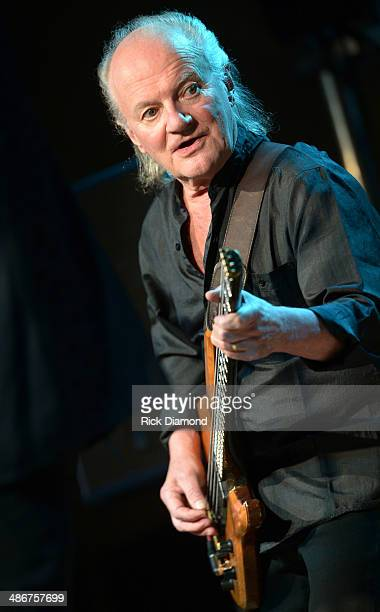 Jim Rodford of The Zombies performs at 3rd Lindsley on April 25 2014 in Nashville Tennessee