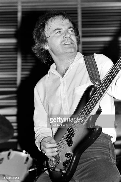 Jim Rodford performing with The Kinks at Nassau Coliseum in Uniondale Long Island New York on October 26 1980