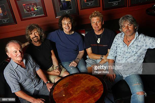 Jim Rodford Rod Argent Colin Blunstone Keith Airey and Steve Rodford of The Zobies pose for a portrait before their performance at The Fillmore New...