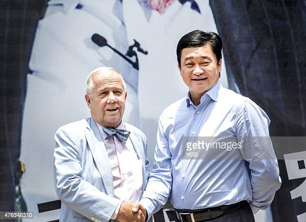 Jim Rogers , American businessman, investor and author, and Xinhuanet President Tian Shubin attend the Xinhuanet Guest Will at Xinhuanet Fujian...