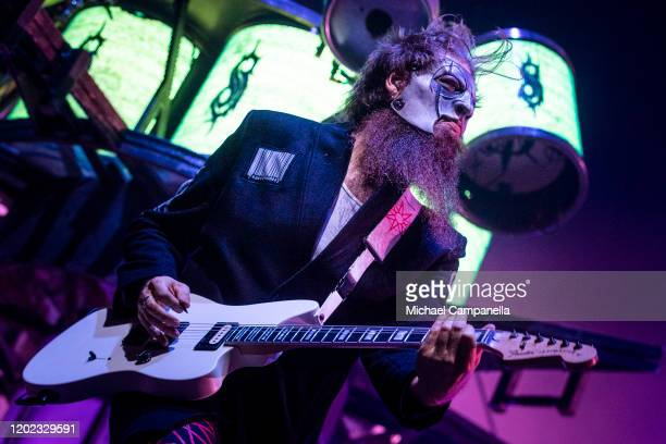 Jim Root of Slipknot performs in concert at the Ericsson Globe Arena on February 21 2020 in Stockholm Sweden