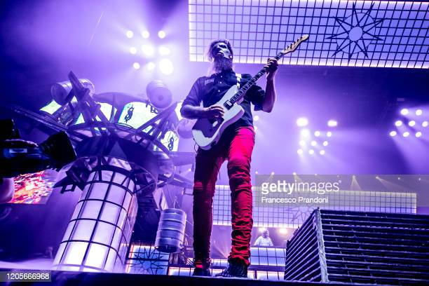 Jim Root of Slipknot performs on February 11 2020 in Milan Italy