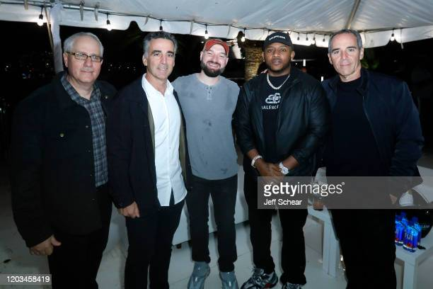 Jim Roppo Avery Lipman Josh Berkman Mack Maine and Monte Lipman attend Lil Wayne's Funeral album release party on February 01 2020 in Miami Florida