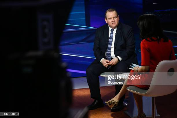 Jim Ross chairman of SSGA Funds Management Inc listens during a Bloomberg Television interview in New York US on Wednesday Jan 17 2018 Ross discussed...