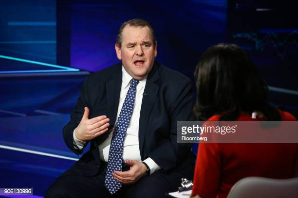 Jim Ross chairman of SSGA Funds Management Inc speaks during a Bloomberg Television interview in New York US on Wednesday Jan 17 2018 Ross discussed...