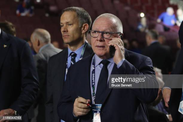 Jim Rutherford attends the 2019 NHL Draft at the Rogers Arena on June 22 2019 in Vancouver Canada