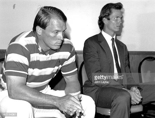 SEP 6 1989 Jim Ryan and Steve Watson at press confers at Embassy Smith