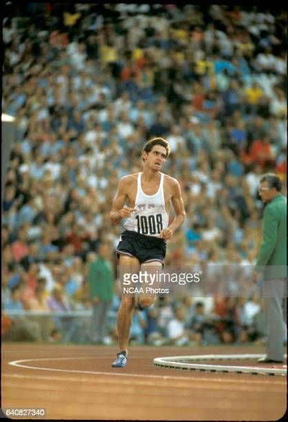 Jim Ryun of the US tries to make up ground after getting knocked to the ground in the 1500 m race during the Olympic games in Munich West Germany He...