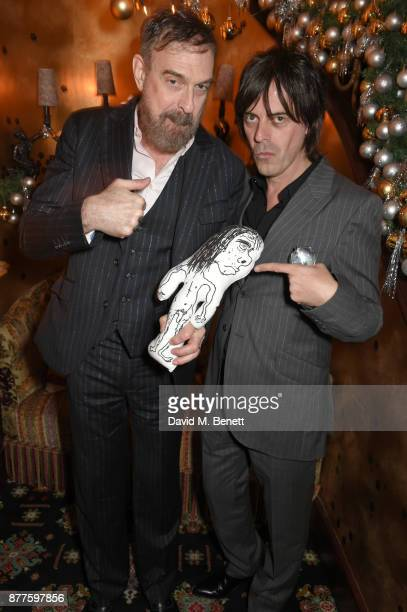 Jim Sclavunos and George Vjestica attend the Nick Cave The Bad Seeds x The Vampires Wife x Matchesfashioncom party at Loulou's on November 22 2017 in...