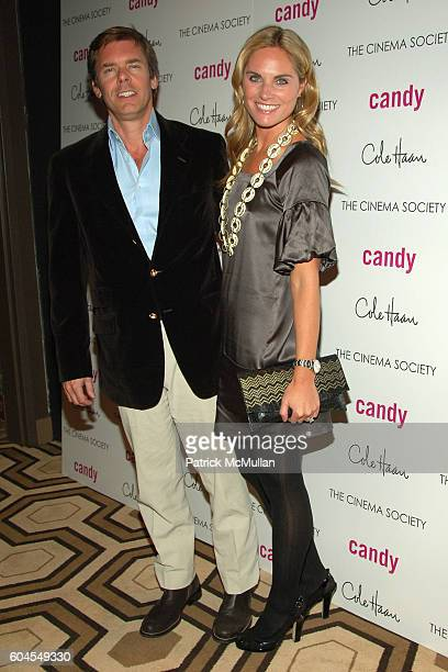 Jim Seuss and Annie Taube attend THE CINEMA SOCIETY and COLE HAAN host a screening of 'CANDY' at Tribeca Grand Screening Room on November 6 2006 in...