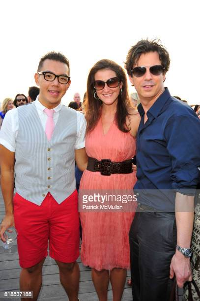 Jim Shi Lydia Fenet and Adam Glassman attend Sunset Over the Hudson DAVID YURMAN Annual Rooftop Party at the David Yurman Rooftop on August 5 2010 in...