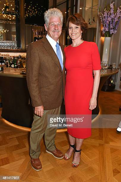 Jim Simpson and Sigourney Weaver attend a celebration of Brazilian ballet dancer Marcelo Gomes hosted by Sigourney Weaver Ali Wambold and Monica GS...