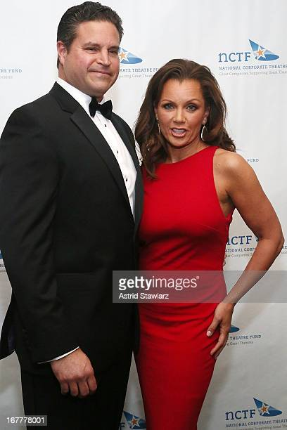 Jim Skrip and actress Vanessa Williams wearing a dress designed by Azadeh attend the National Corporate Theatre Fund 2013 Chairman's Award Gala at...